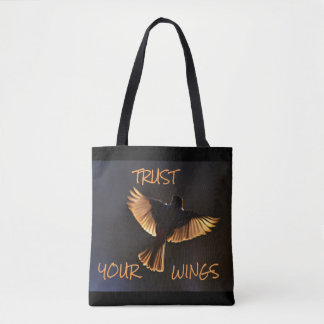 Large Blue Quote Tote