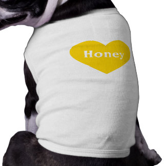 Large Bright Yellow Heart - Monogram Pet Tee