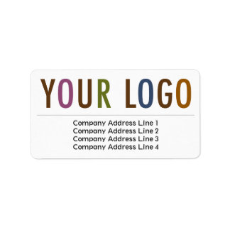 Large Business Return Address Labels Custom Logo