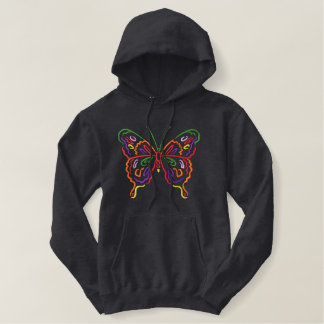 Large Butterfly Embroidered Hoodie