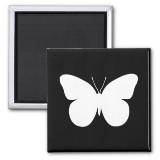 Large Butterfly Square Magnet