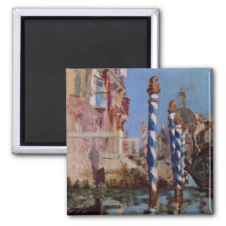 Large Canal in Venice - Edouard Manet Square Magnet