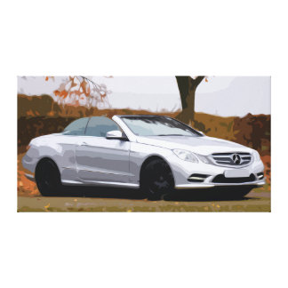 Large Canvas of Silver Cabriolet Luxury Car