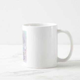 large cat skull rainbow coffee mug