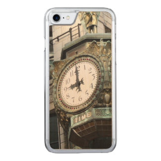 Large Clock on Corner in Chicago Cell Phone Carved iPhone 7 Case