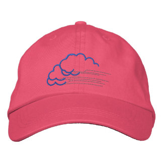 Large Clouds Embroidered Cap