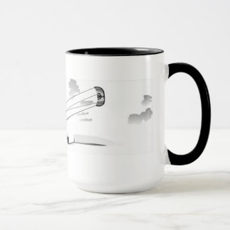 Large Coffee Mug - Kitesurfing