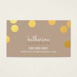 LARGE CONFETTI SPOT modern bold gold foil kraft Business Card