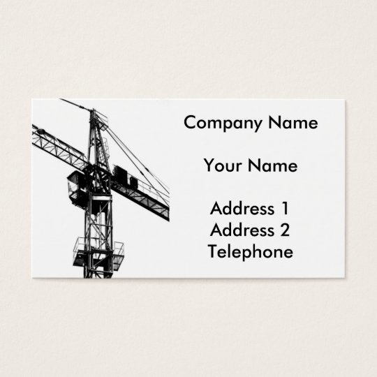Large Crane Business Card