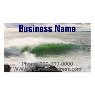 Large Crashing Waves Seascape Acadia National Park Pack Of Standard Business Cards