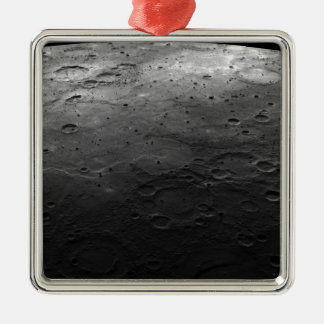 Large craters on the planet Mercury Christmas Ornament