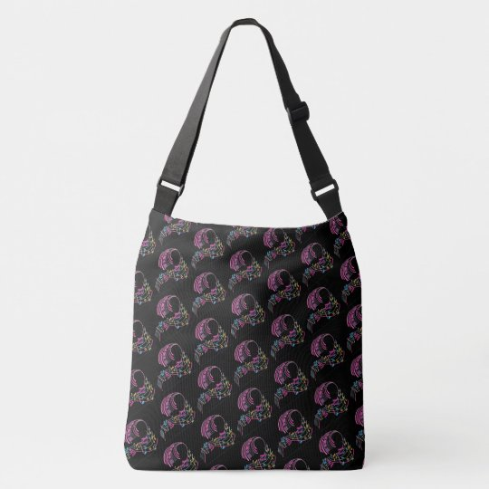 Large Cross Body All-Over-Print Tote Bag