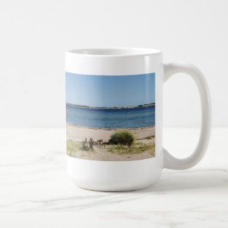 Large cup beach and sea