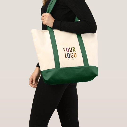 Large Custom Canvas Tote Bag with Logo No Minimum