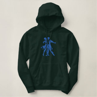 Large Dance Silhouette Embroidered Hoodie