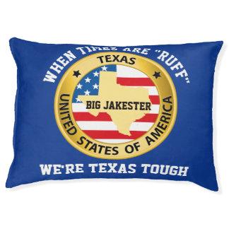 Large Dog Pillow Bed Texas Tough