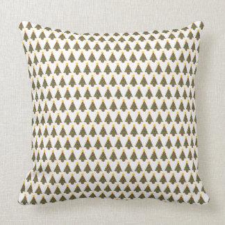 large dotty christmas tree cushion