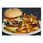 large double half pound burger fries and cola card