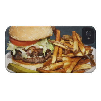 large double half pound burger fries and cola iPhone 4 cases