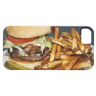 large double half pound burger fries and cola iPhone 5 cover