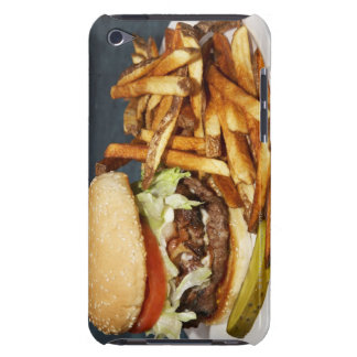 large double half pound burger fries and cola iPod touch Case-Mate case