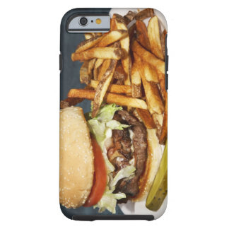 large double half pound burger fries and cola tough iPhone 6 case