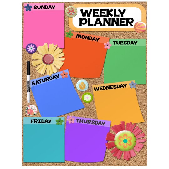 Large Dry Erase Board, Weekly Planner Dry Erase