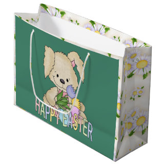 Large Easter Bunny Holiday gift bag