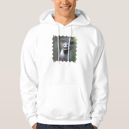 Large Emu  Hooded Sweatshirt
