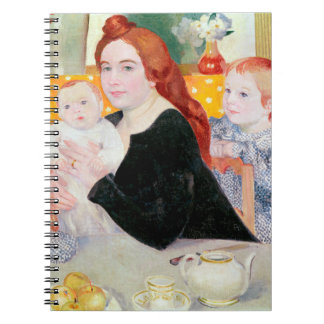 Large Family Portrait in Blue and Yellow Spiral Note Book
