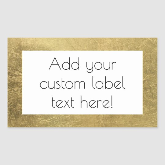 Large Faux Gold Leaf Custom Craft Favour Wedding