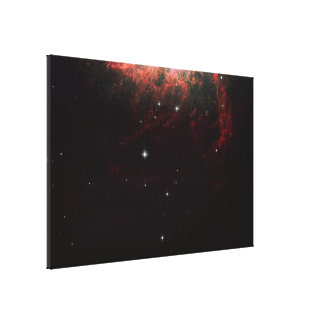 Large-Field Hubble Image of Starburst Galaxy NGC 1 Canvas Print