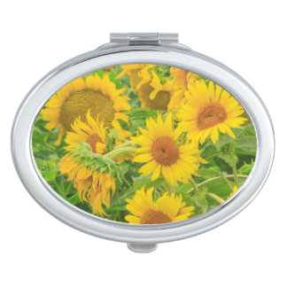 Large field of sunflowers near Moses Lake, WA 2 Compact Mirrors