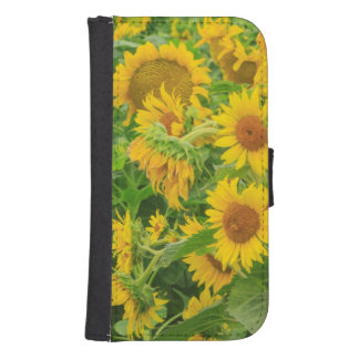 Large field of sunflowers near Moses Lake, WA 2 Samsung S4 Wallet Case