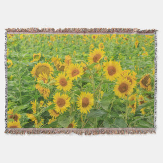 Large field of sunflowers near Moses Lake, WA 2 Throw Blanket