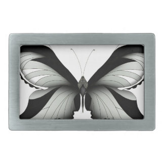 Large Field Sage Butterfly Rectangular Belt Buckle