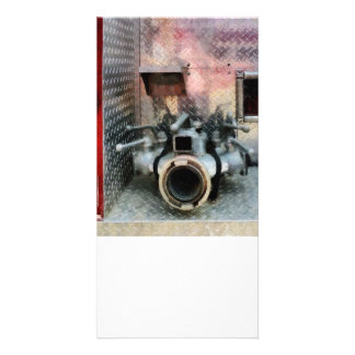 Large Fire Hose Nozzle Picture Card
