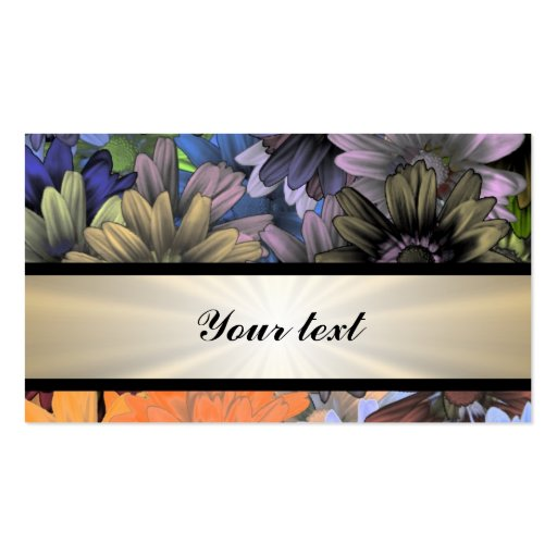Large Flower Collage Business Card Templates