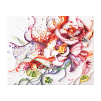 Large Flowers canvas