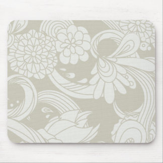Large Flowers in Cream and White Mousepads