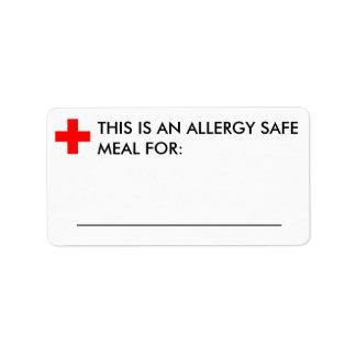 Large Food Identification Label Address Label
