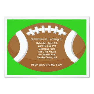 Large Football Kids Birthday Invitation
