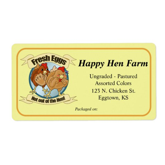 Large Funny Chickens Label Shipping Label