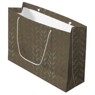 Large Gift Bag - Golden Vines