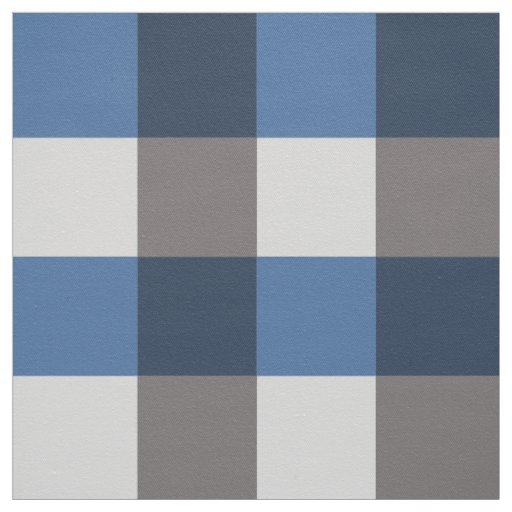 Large Gingham Plaid, grey / grey and blue