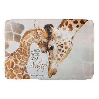 Large giraffe bath mat bath mats