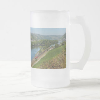 Large glass cup central Rhine Valley with Lorch Frosted Glass Mug