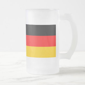 Large glass cup Germany flag