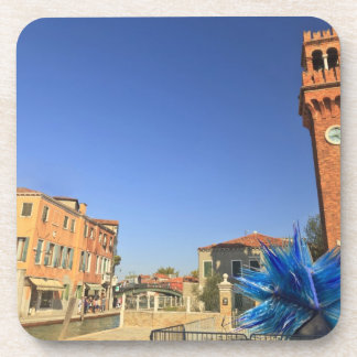 Large Glass Statue and Bell Tower, Italy Coaster
