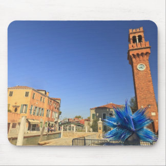 Large Glass Statue and Bell Tower, Italy Mouse Mat